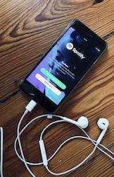 Spotify auf dem iPhone - und bald an der Börse. (Foto: Bomsdorf)