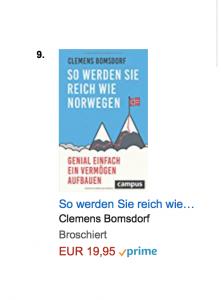 So werden Sie reich wie Norwegen bei Amazon auf Rang 9 bei Börse & Geld Ratgebern.