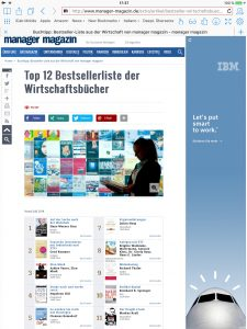 """""""So werden Sie reich wie Norwegen"""" auch im Juli auf der Bestsellerliste des """"Manager-Magazins"""". (Screenshot)"""