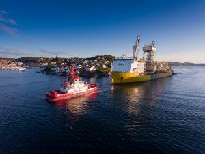 Mit Öl-Geld bezahlt: Bohrmodule vor Grimstad (Foto: Jan Arne Wold / Equinor).