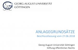 Kein Ölgeld für die Uni Göttingen, so steht es in den neuen Anlagegrundsätzen.