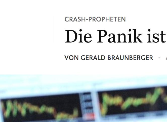 Panik? FAZ.net vom 18. Oktober 2018.