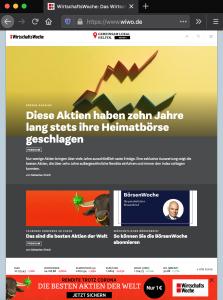Heiße Aktien-Tipps bei der Wirtschaftswoche. (Screenshot www.wiwo.de 11.5.2020 15.30Uhr)