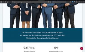 Gerd Kommer Invest Homepage.