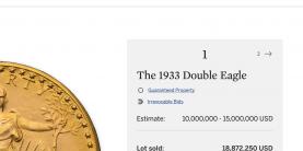 Sotheby's Auktionsergebnis (Screenshot Ausschnitt)