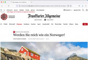 FAZ - reich wie Norwegen